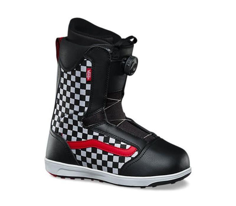 Vans Youth Unisex Brystal Snowboard Boot Black/Checker - (17/18)