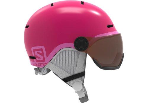 SALOMON Salomon Jr Grom Visor Glossy Pink Helmet - (17/18)