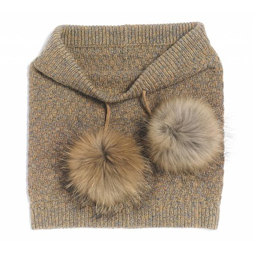 BRUME Brume Womens North Twin Neckwarmer Gold -40 (17/18) OS