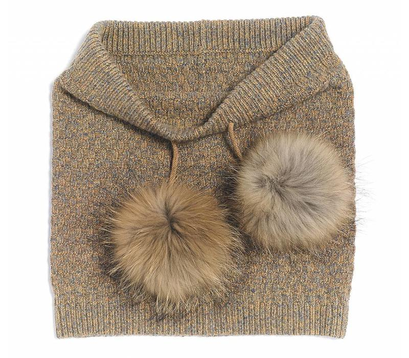 Brume Womens North Twin Neckwarmer Gold -40 (17/18) OS