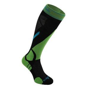 BRIDGEDALE Bridgedale Mens Vertige Light Sock Black/Green -843 (17/18)