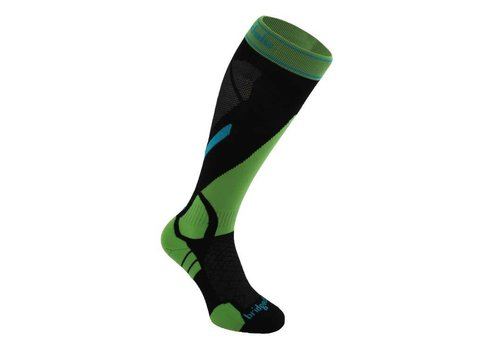 BRIDGEDALE Bridgedale Mens Vertige Light Sock Black/Green -843 (17/18)
