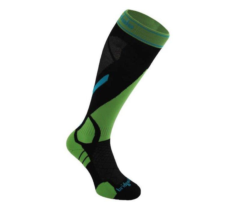 Bridgedale Mens Vertige Light Sock Black/Green -843 (17/18)