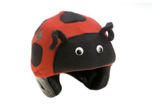 TAIL WAGS TAIL WAGS LADYBUG HELMET COVER - ADULT