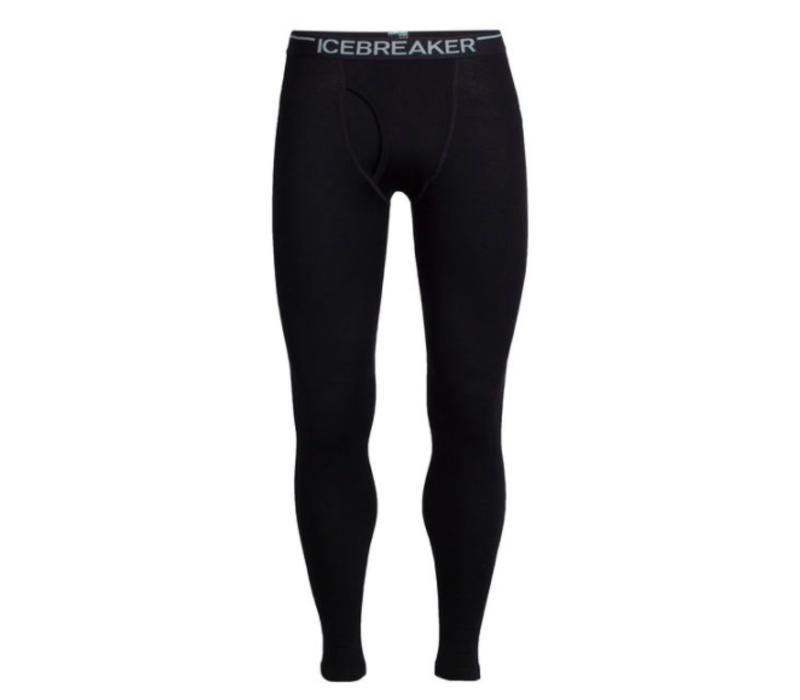 Icebreaker Mens Tech Leggings W Fly Black -1 (17/18)