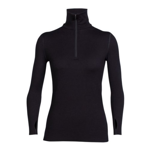 Icebreaker Icebreaker Wmns Tech Top Ls Half Zip Black -1 *Final Sale*