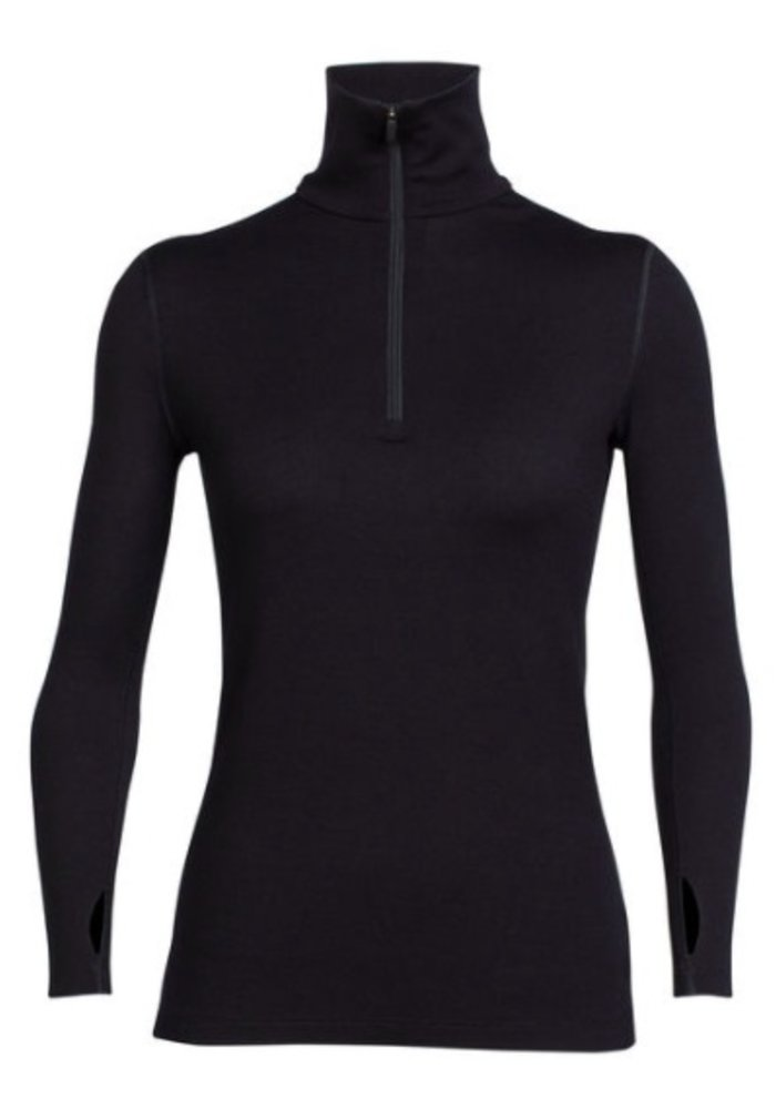Icebreaker Wmns Tech Top Ls Half Zip Black -1