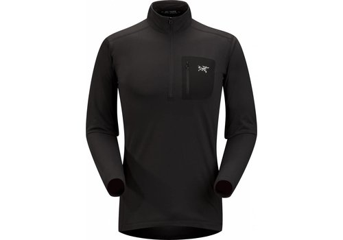 ARCTERYX Arc'Teryx RHO LT Zip Neck Mens Black