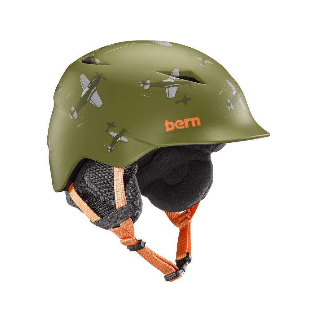 ce40b46ef67 BERN Bern Boys Camino Helmet Matte Green Dogfight - Gates and Boards