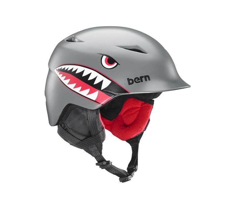 Bern Boys Camino Helmet Satin Grey Flying Tiger