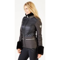 ALP-N-ROCK MALOJA JACKET WITH FAUX FUR CUFFS - BLK