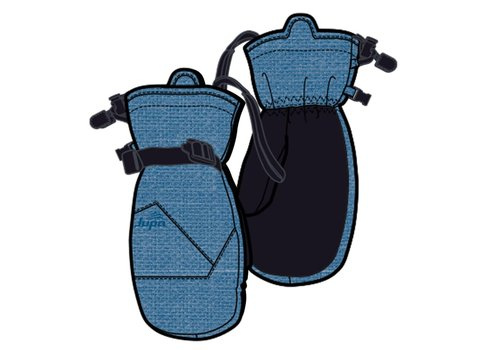 JUPA JUPA KIDS BOYS PEYTON INSULATED MITTS BLUE DENIM PRINT-BL998-A11