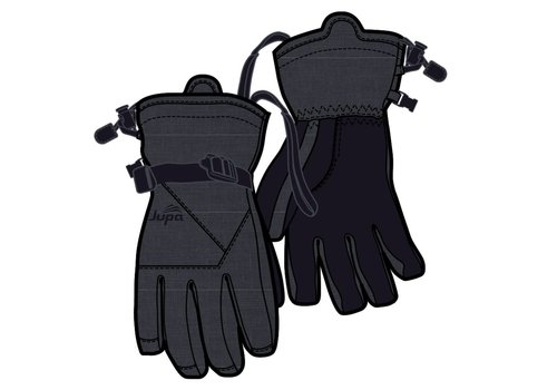 JUPA JUPA JUNIOR BOYS CASEY INSULATED GLOVES DARK GREY DENIM PRINT-DGM-A11