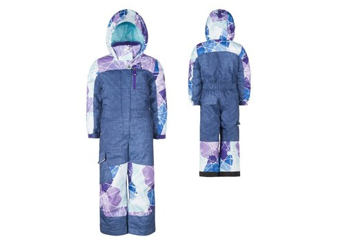 JUPA JUPA KIDS GIRLS CAMILLIA ONE PIECE SUIT BLUE DENIM PRINT-BL998-A11