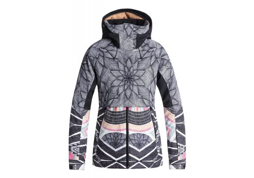 ROXY ROXY FROZEN FLOW JACKET   KVJ6  POP SNOW STARS