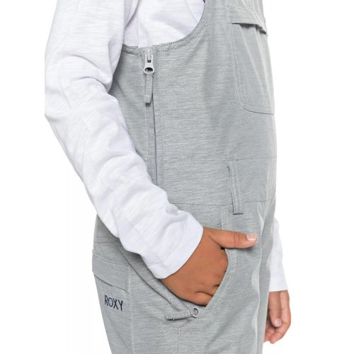ROXY ROXY NON STOP GIRL BIB PANT SJEH  WARM HEATHER GREY