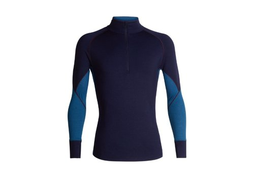 ICEBREAKER ICEBREAKER MENS 260 ZONE LS HALF ZIP MIDNIGHT NAVY/PRUSSIAN BLUE-401