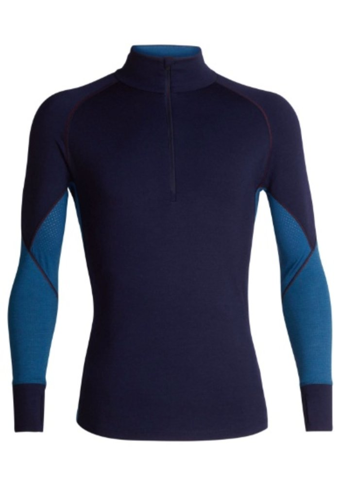 ICEBREAKER MENS 260 ZONE LS HALF ZIP MIDNIGHT NAVY/PRUSSIAN BLUE-401