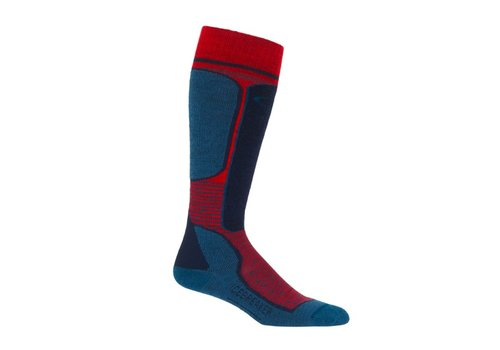 ICEBREAKER ICEBREAKER MENS SKI+ LIGHT OTC CHILI RED/PRUSSIAN BLUE/MIDNIGHT NAVY-601