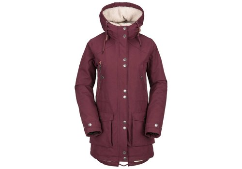 VOLCOM VOLCOM WALK ON BY PARKA BURGUNDY-BUR (602)