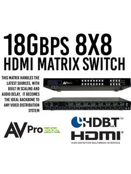AVPro Edge Ultra High Definition True 4K 8 x 8 Hdmi Matrix Switch,  AC-MX88-AUHD-GEN2