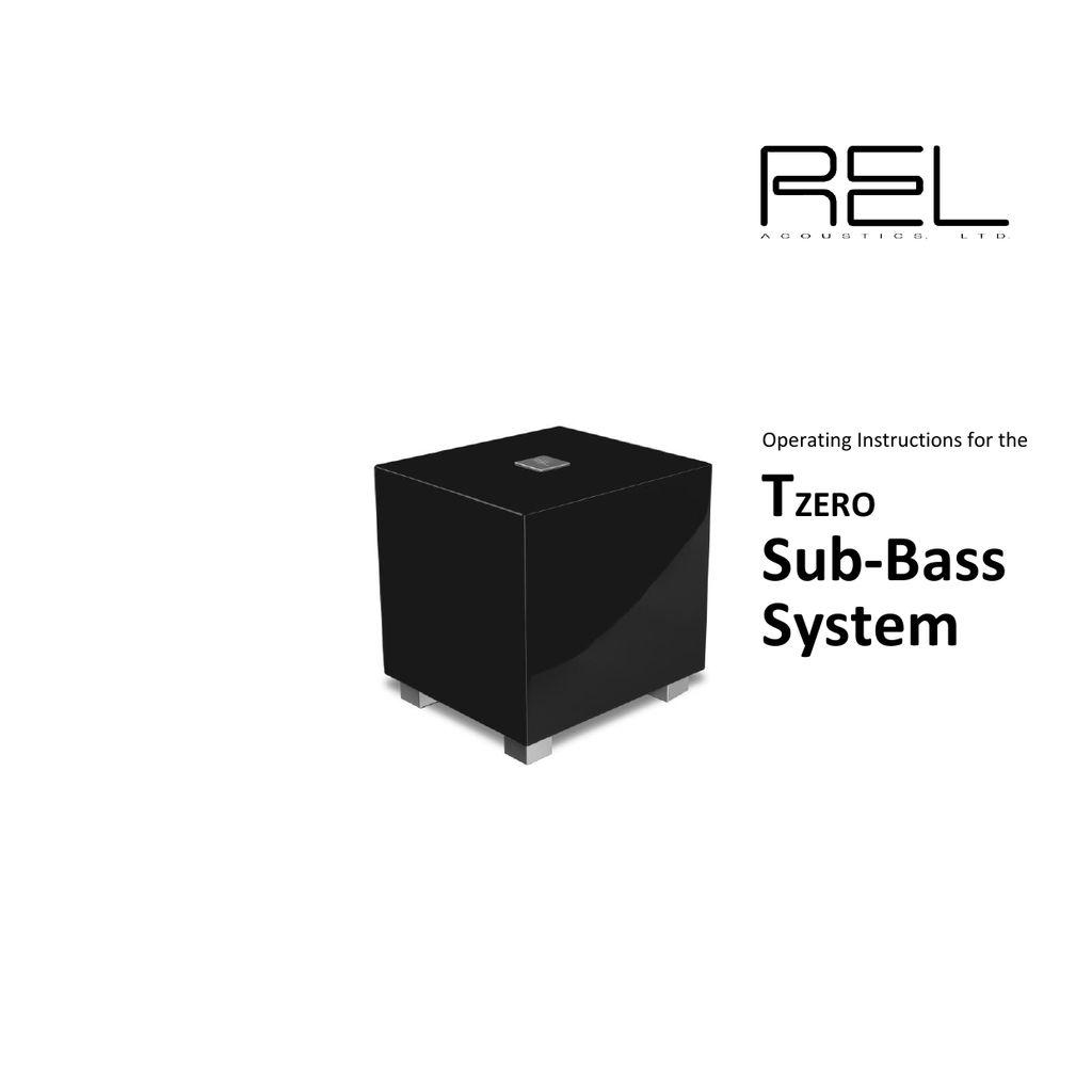 REL Acoustics Tzero MKIII Subwoofer