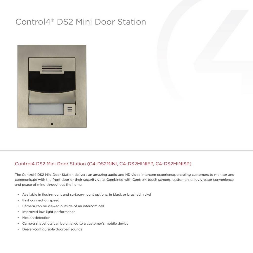 Control4 DS2 Mini Door Station, Brushed Nickel