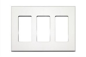 Control4 Faceplate, 3 Gang, C4 -FP3-WH, White
