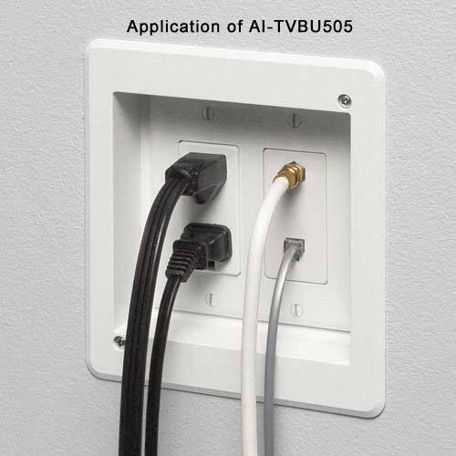 Arlington Double Gang Recessed TV Box, TVBU505