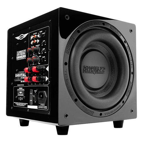 "Earthquake Sound MiniMe P10V Version 2 12"" 600 Watt Subwoofer, Black Piano"