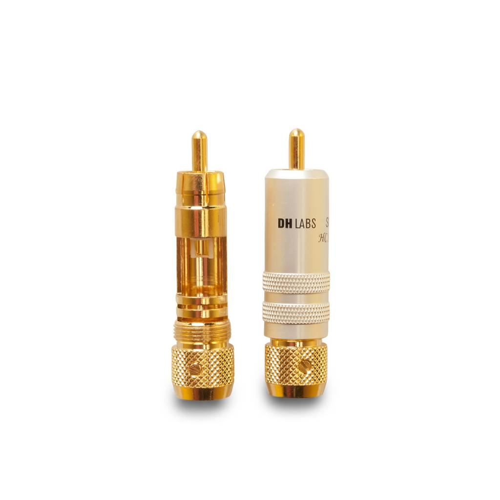 DH Labs DH Labs HC Alloy RCA, One piece locking RCA fits Air Matrix and other cables up to 8mm, Black