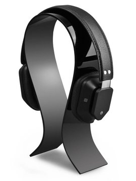 AmoVee Acrylic Headphone Stand, Black