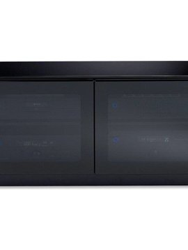 BDI BDI Mirage 8224,  TV- Cabinet, Black with Grey tinted glass doors