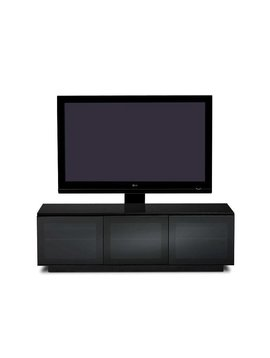 BDI Mirage 8227-2,  TV- Cabinet, Black with Grey tinted glass doors