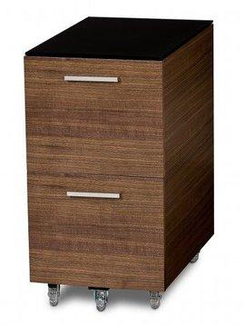 BDI Sequel 6005 WL, Two Drawer Mobile File Pedestal, Natural Walnut