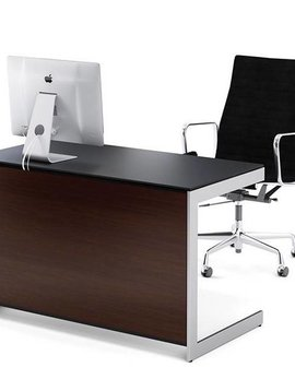 BDI Sequel 6008 CWL, Compact Desk Back Panel, Chocolate Stained Walnut