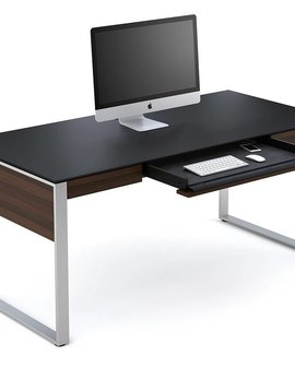 BDI Sequel 6021 CWL, Executive Desk, Chocolate Stained Walnut
