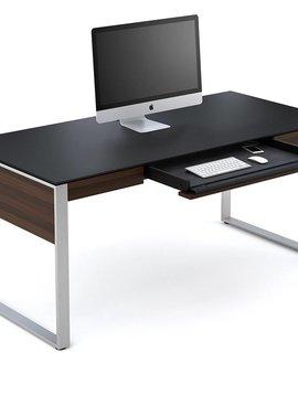 BDI Sequel 6021CWL, Executive Desk, Chocolate Stained Walnut