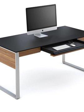 BDI Sequel 6021 WL, Executive Desk, Natural Walnut