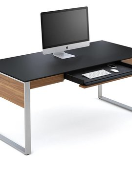 BDI Sequel 6021WL, Executive Desk, Natural Walnut