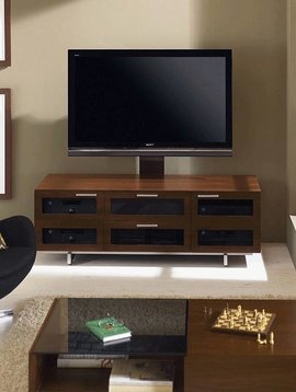 BDI Avion 8927 CWL, 3 Component Wide TV-Cabinet, Chocolate Stained Walnut