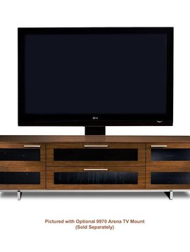 BDI Avion 8929 CWL, 4 Component Wide TV-Cabinet, Chocolate Stained Walnut