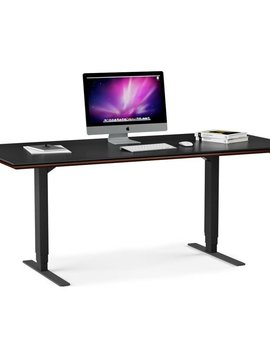 BDI Sequel Lift Desk 6052, Chocolate Stained Walnut