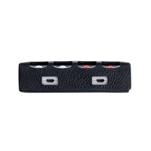 Chord Electronics Ltd. Hugo 2 Premium Leather Case ( Black with Red Stitching )