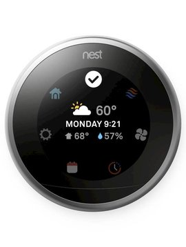 Nest Learning Thermostat, Polished Steel