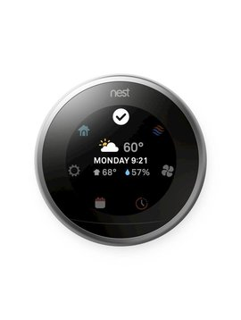 Nest Learning Thermostat 3rd Gen, Polished Steel