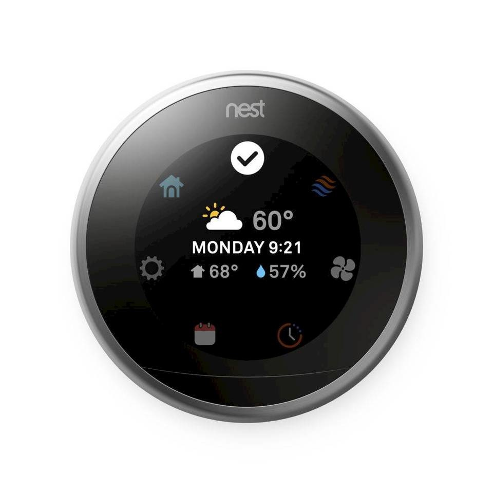 Nest Learning Thermostat 3rd Gen., Polished Steel, T3019US