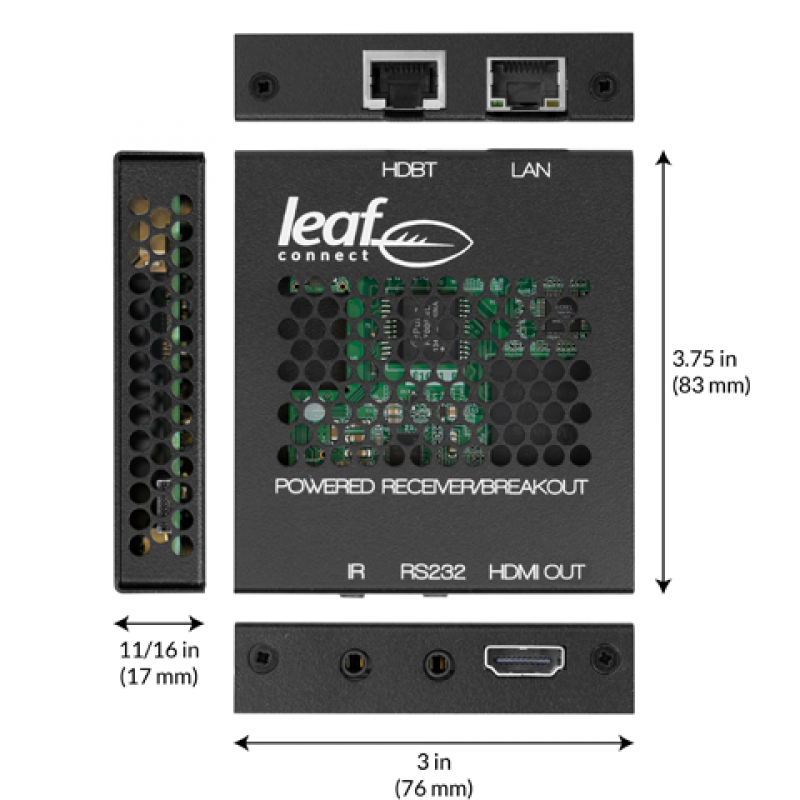 Control4 Leaf 4K Ultra HD HDBaseT Receiver, LU1E