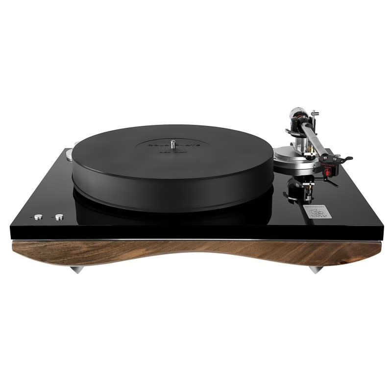 Gold Note Mediterraneo Turntable with B.1 Tonearm in Italian Walnut Hardwood