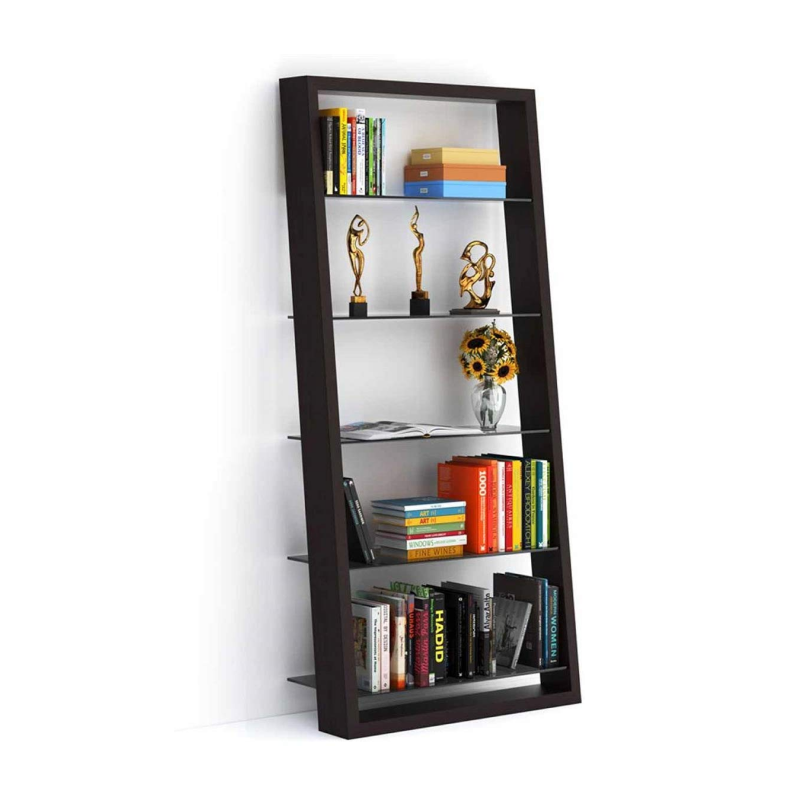 BDI Eileen 5156 Leaning shelf ( Grey tinted glass shelves )